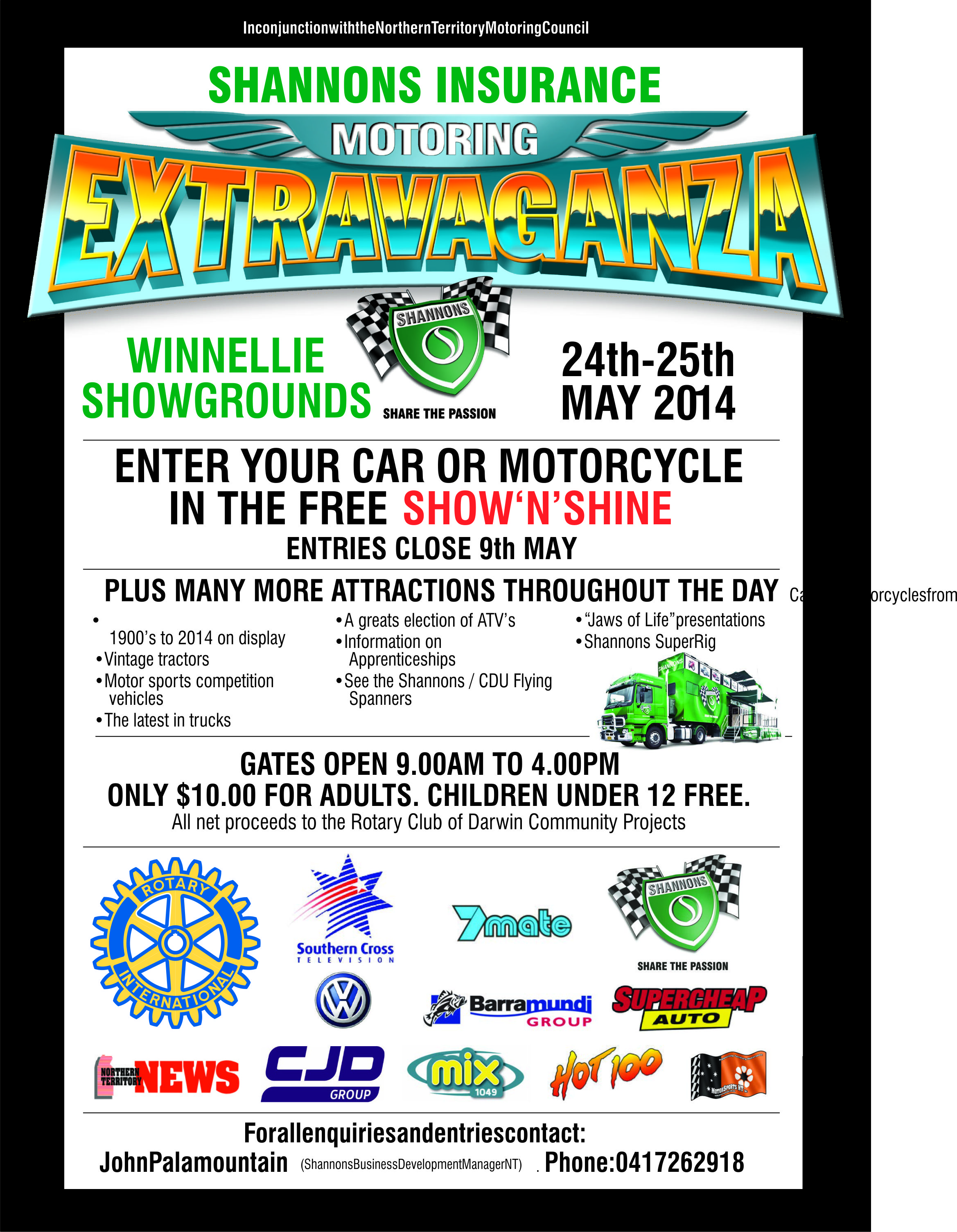 Motor Extravagana poster with fixed kerning